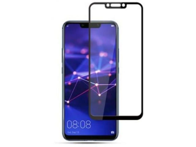 Geam protectie 0.15 mm touchscreen Huawei Mate 20 Lite, SNE-LX1 DS, SNE-LX3 DS, INE-LX2 (5D curved and full cover) negru - transparetent bulk