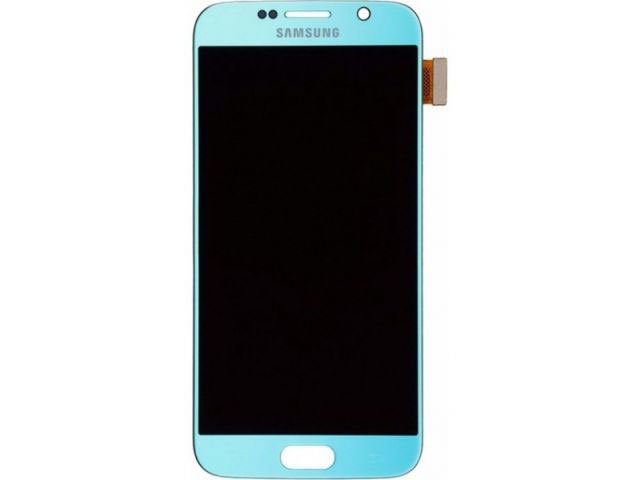 Display cu touchscreen Samsung SM-G920f Galaxy S6 original - albastru